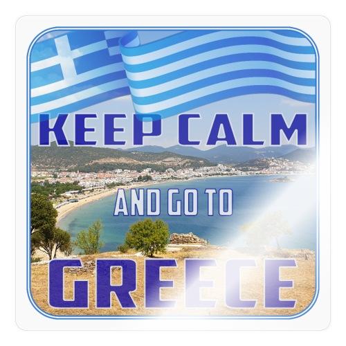 KEEP CALM and go to GREECE - Griechenland - Ellada - Sticker