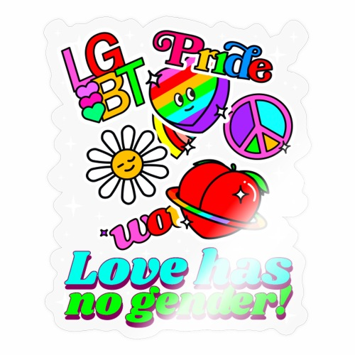 Love has no gender! Gay Pride Awareness Month 2021 - Sticker