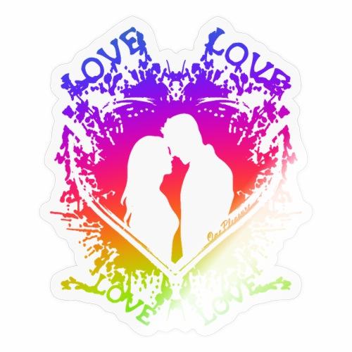 Gay Pride Pärchen Paar Herz - Love is Love - Sticker