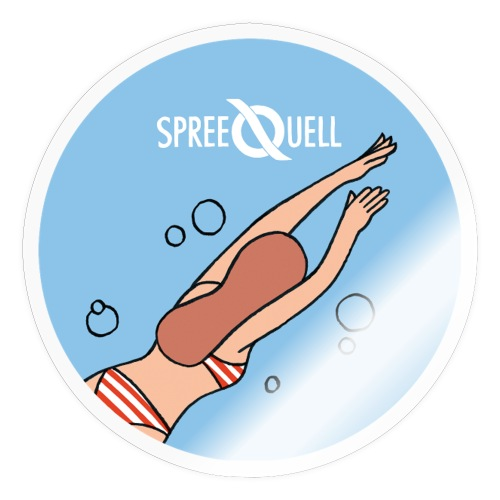 Spreequell Schwimmerin - Sticker