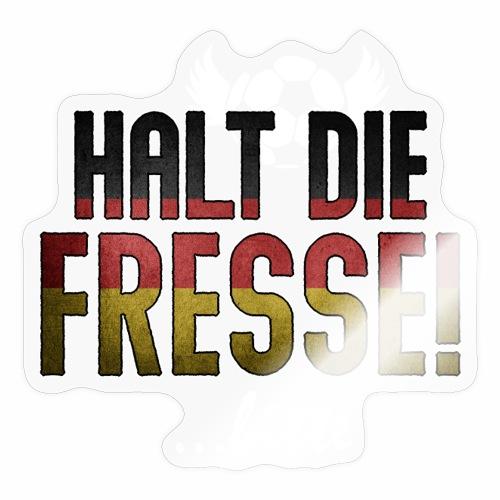 Halt die Fresse! ..bitte - Fußball Geschenk Ideen - Sticker