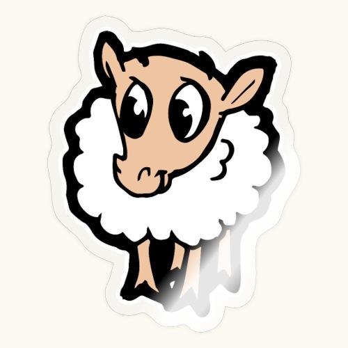 Süßes lustiges Comic Schaf Geschenkidee Cartoon - Autocollant
