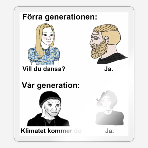 Vår generation: - Klistermärke