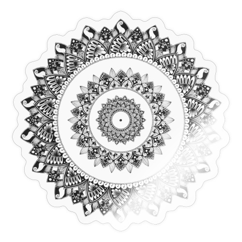 Mandala Black&White - Adesivo