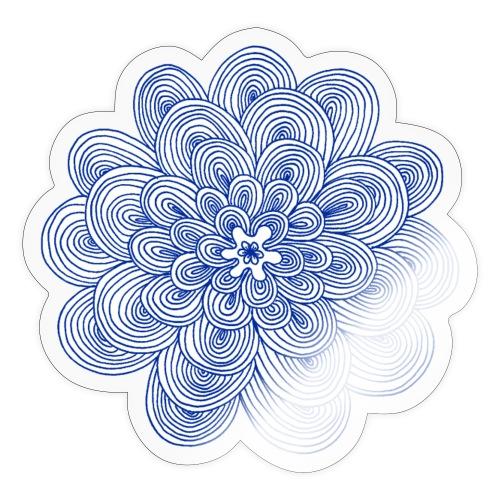 hypnotic flower blue - Adesivo