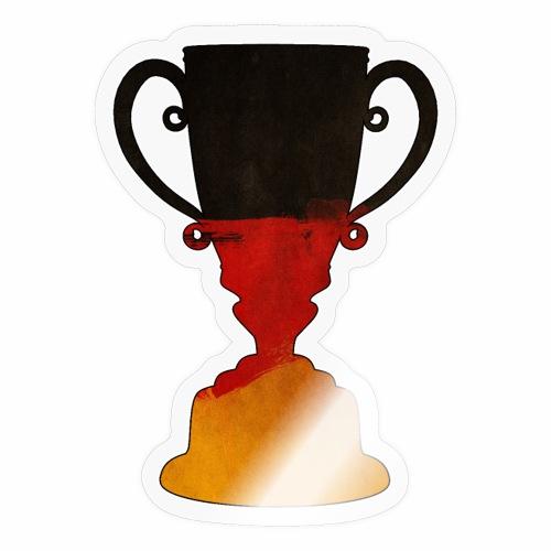 Deutschland Trophäe Pokal Geschenk Ideen - Sticker