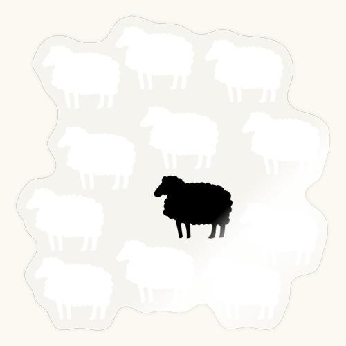 Lustige Schafherde Schwarzes Schaf Geschenkidee - Autocollant