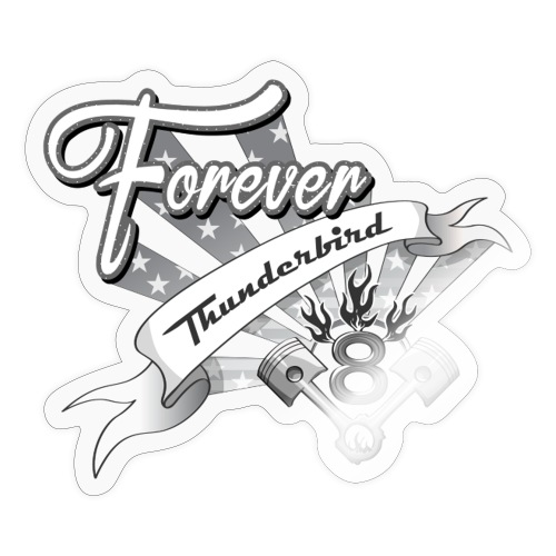 Forever V8 Thunderbird - Klistermärke