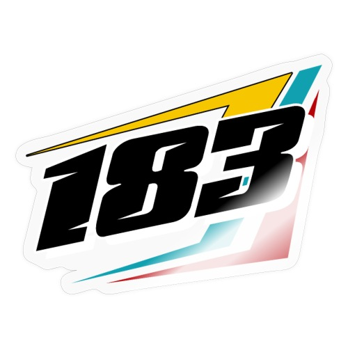 183 Charlie Guinchard 183 number - Sticker