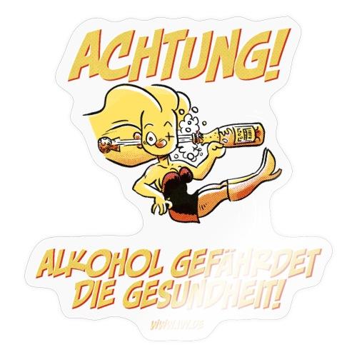 Alkohol gefährdet die Gesundheit - Sticker