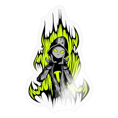 KRASS mit Flamme - Sticker