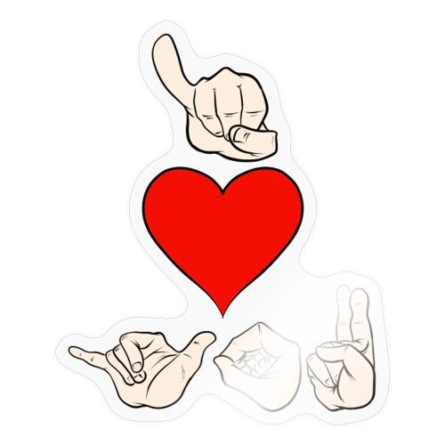 I love you - Sticker