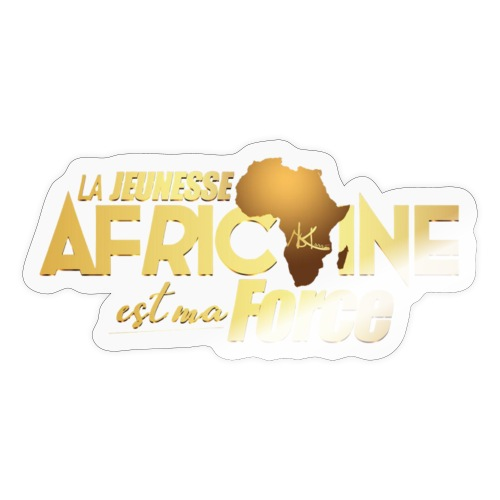 La jeunesse africaine est ma force - Autocollant