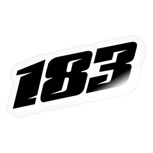183 Charlie Guinchard number black - Sticker