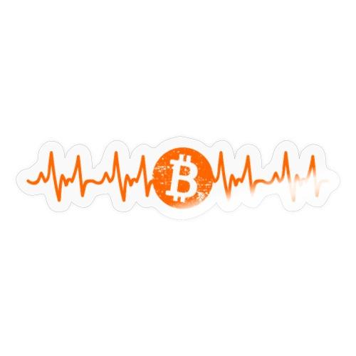 Bitcoin Pengar Puls Ekonomi Kryptovalutor BTC - Klistermärke