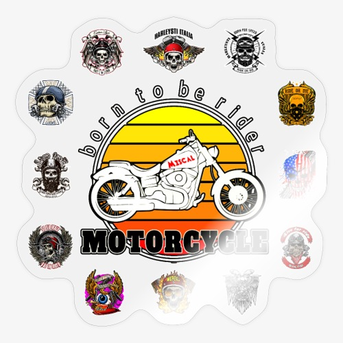 Born to be Rider - Motorcycle - Collection - Adesivo