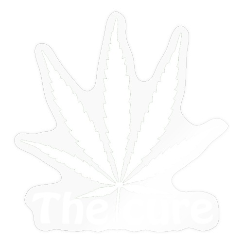 The cure of cannabis leaf. - Sticker