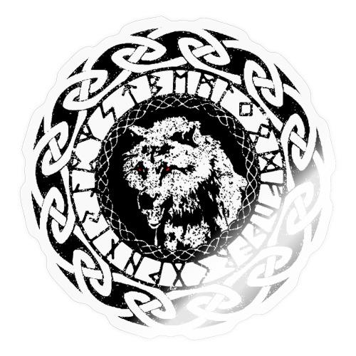 Fenrir Geri Freki Wolf Wikinger Tribal Runen - Sticker