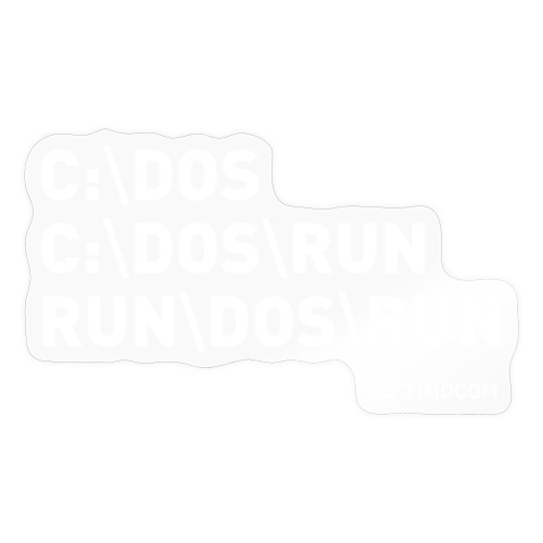 Run DOS Run - Sticker