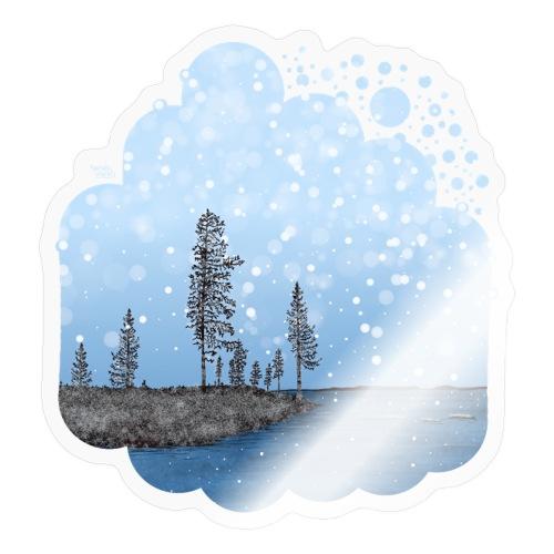 Première neige - Autocollant