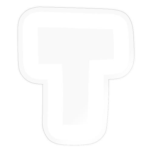 T BIG transparent white stroke - Sticker