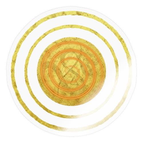 Glückssymbol Sonne - positive Schwingung - Spirale - Sticker