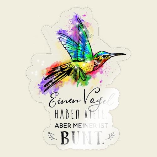 Kolibri: Einen Vogel haben viele - Sticker