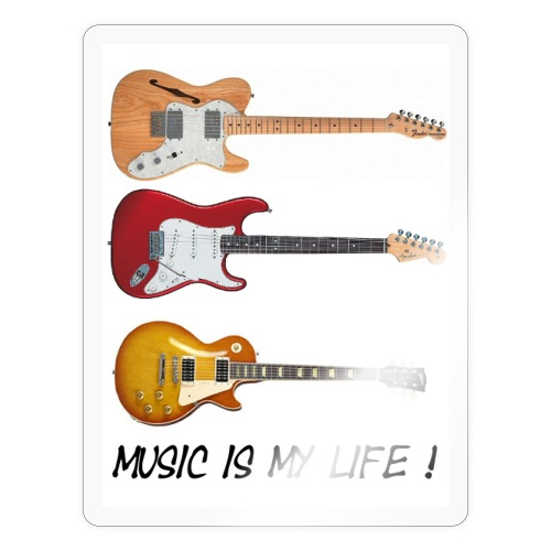 Music is my life! - Klistremerke