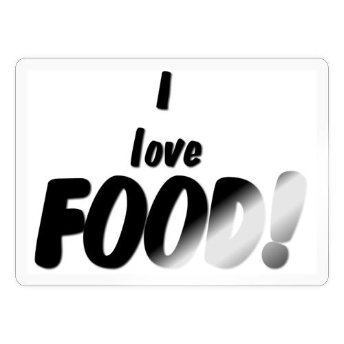 I love FOOD - Klistremerke