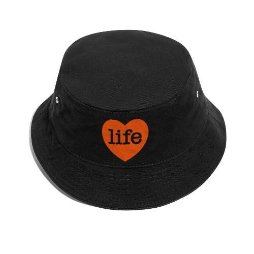 LOVE LIFE heart - Bucket Hat