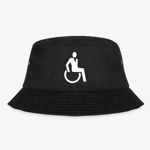 Sjieke rolstoel gebruiker symbool - Vissershoed