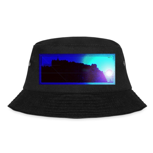 Silhouette of Edinburgh Castle - Bucket Hat