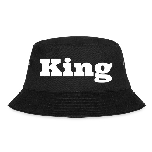 Snapback king zwart/rood - Vissershoed