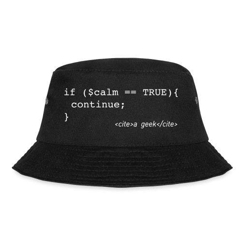 Coder's Keep Calm (with white text) - Bucket Hat