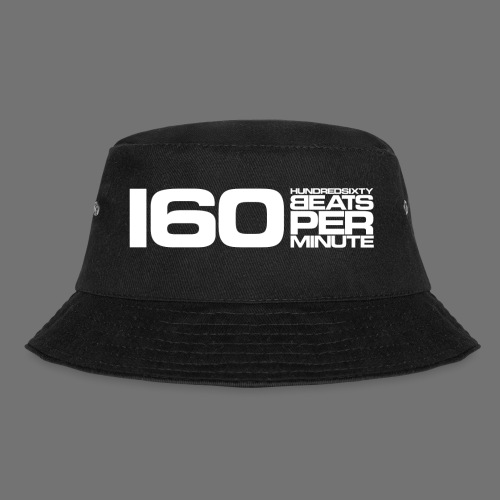 160 BPM (white long) - Bucket Hat