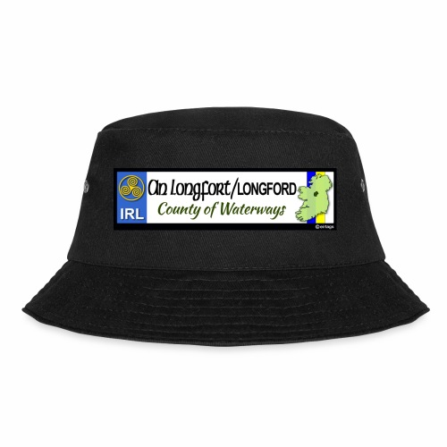 LONGFORD, IRELAND: licence plate tag style decal - Bucket Hat