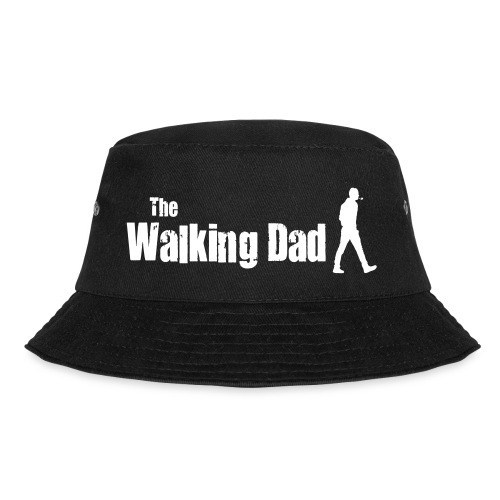 the walking dad white text on black - Bucket Hat