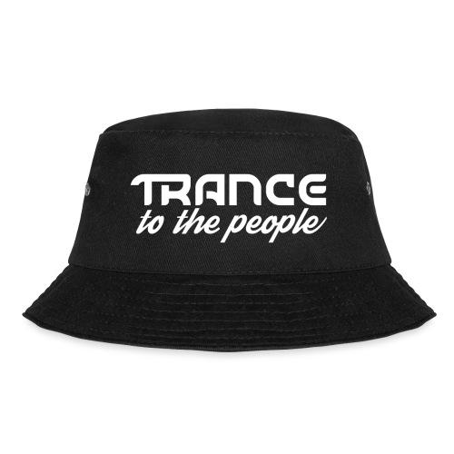 Trance to the People Hvidt Logo - Lystfisker-bøllehat