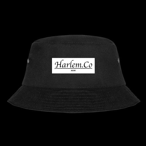 Harlem Co logo White and Black - Bucket Hat