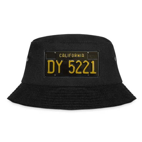 CALIFORNIA BLACK LICENCE PLATE - Bucket Hat