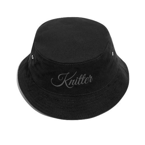 Knitter, dark gray - Bucket Hat