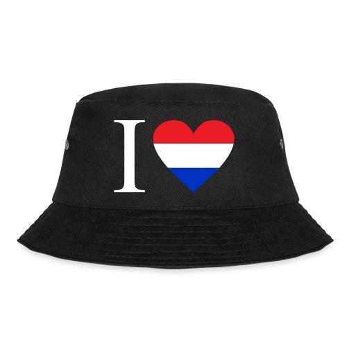Ik hou van Nederland   Hart met rood wit blauw - Vissershoed