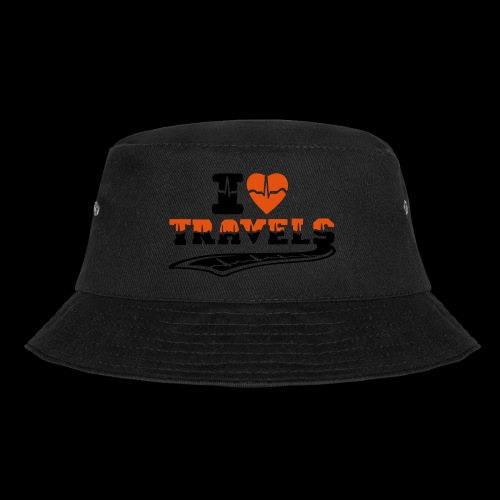 i love travels surprises 2 col - Bucket Hat