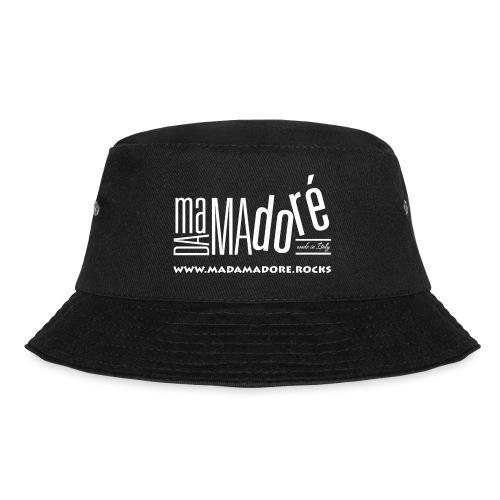 T-Shirt Premium - Uomo - Logo Bianco + Sito - Cappello alla pescatora
