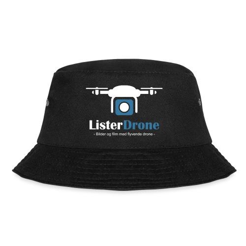 ListerDrone logo - Bøttehatt