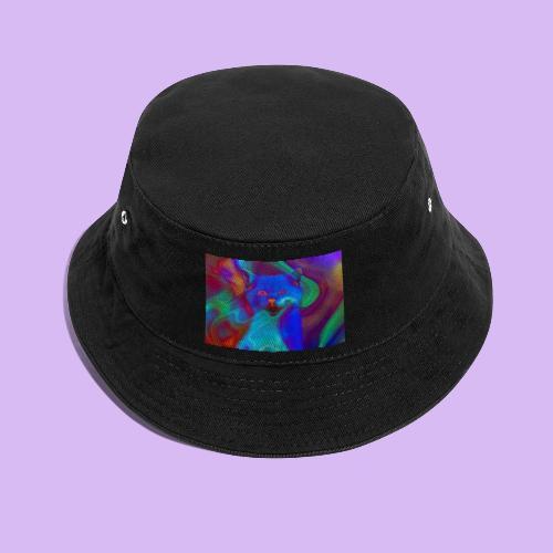 Gattino con effetti neon surreali - Cappello alla pescatora