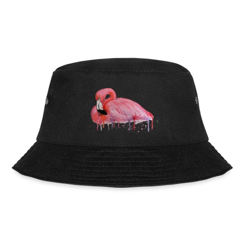 Pink Flamingo Watercolors Nadia Luongo - Cappello alla pescatora