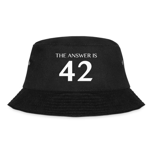The Answer is 42 White - Bucket Hat