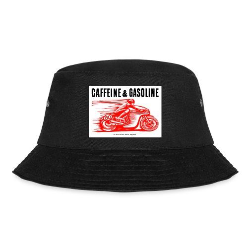 Caffeine & Gasoline black text - Bucket Hat