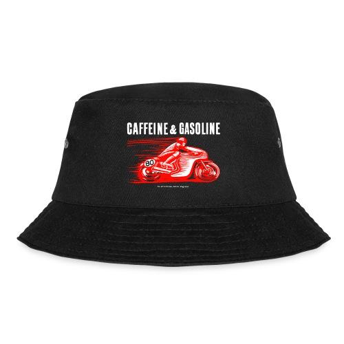Caffeine & Gasoline white text - Bucket Hat
